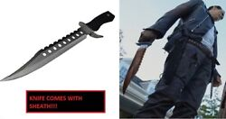 Negan Bowie Knife The Walking Dead Full Tang Fixed Blade Zombie Grimes Dixon