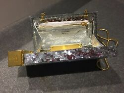 TOM FORD NWT $3950. RARE Silver Lipstick Gold Chain Shoulder Clutch Bag