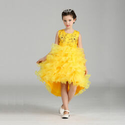 Flower Girls Kids Princess Dress for Girls Party Wedding Bridesmaid Gown K105B