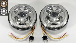 """Pair Premium 7"""" High Power CREE LED Projection Headlight - Dual Color Halo Ring"""