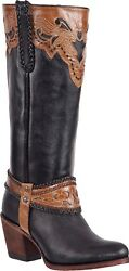 Womenand039s Potro Rebelde All Genuine Leather Knee High Boots Round Toe Handmade