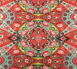 WAVERLY REFLECTION POOL EARL GRAY RED BLUE FLORAL TAPESTRY FABRIC BY YARD 54quot;W