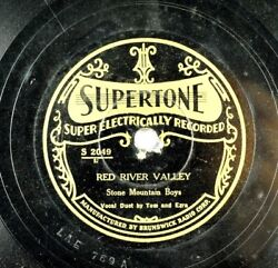 Stone Mountain Boys -tom And Ezra -electric Supertone 78rpm -red River Valley A10