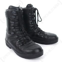 German Army Combat Boots - Moulded Leather Winter Military Cadet Patrol Surplus