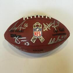 2013 Tennessee Titans Team Signed Nfl Game Issued Salute To Service Football