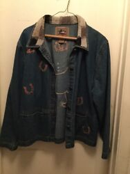 Donandrsquot Mess With Texas Horse Equestrian Western Denim Jeans Beaded S Jacket