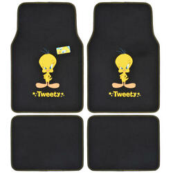 Sassy Tweety Bird - Official Looney Tunes Carpet Floor Mats - Front And Rear 4 Pc