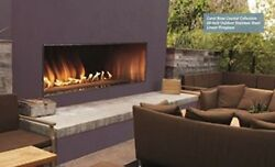 Carol Rose Outdoor 60 Stainless Steel Manual Ignition Linear Fireplace Propane