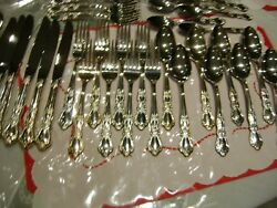 Beautiful 36 Pc1847 Rogers Bros Heritage Silverplate Set For 8 Spoon Fork Knife