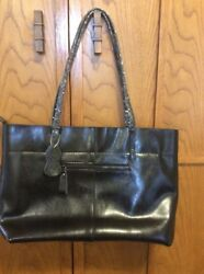 Covelin Womens Large Black Tote Purse NEW Soft Leather $24.99