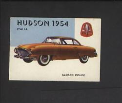 1954 Topps World On Wheels High Number 166 Hudson Italia No Creases