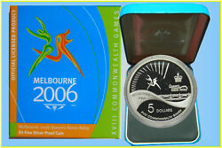 2006 Melbourne Xviii Commonwealth Games, 5 Silver Proof Coin