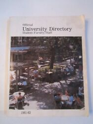 1981 - 1982 University Of Texas At Austin Official Student/staff Directory - R5