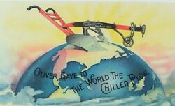 1870and039s-80and039s Oliver Chilled Plow Works - Oliver Gave To The World Globe Card Andr
