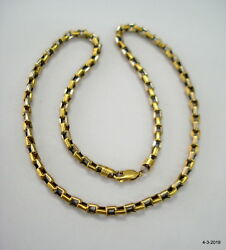 Vintage Antique 18kt Gold Chain Necklace Handmade Jewelry