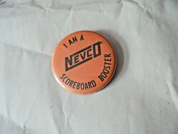 Cool Vintage I'm A Nevco Scoreboard Booster Sports Displays Advertising Pinback