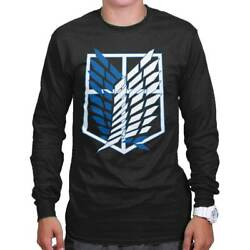 Wings Of Liberty Attack On Titan Cool Gift Cute Edgy Anime Long Sleeve Tee