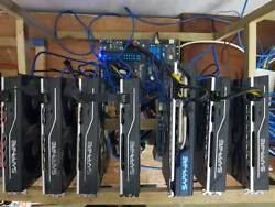 Fully Loaded 7 Card RX480/RX 580 Mining Rig for Crypto Coins