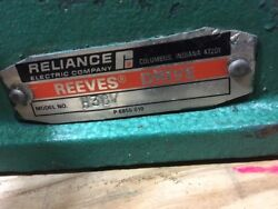 Reliance Electric Company Reeves H38v