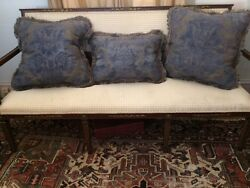 Set Of 3 Large Rare Fortuny Custom Pillows 24 Inch