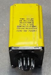 Amf, Potter And Brumfield 120vac Timer Cdb-38-70091, 0.1to5sec, 10amp