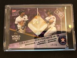 Game-used Base Card To 25 - Hou Astros, 1st Time In Ws History 5 Players Hr
