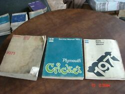 3 - 1971 Dodge Charger Coronet Challenger Dart Service Shop Repair Manual Lot