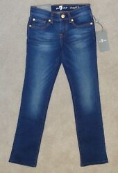 7 For All Mankind ~ Girls ~ Classic Straight Leg Jeans ~ Size 7 ~ NWT