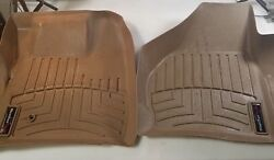 2010 Ford F 350 King Ranch Pickup Weathertech Floor Mats 4 Piece Set Color Tan