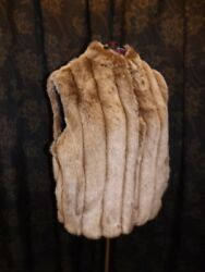 Saylers Fabulous Furs New Timeless Chic Timber Wolf Every-wear Faux Fur Vest 2x