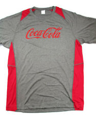 Coca-cola Heather Gray And Red Sport Fabric Tee T-shirt 4x-large 4xl - Brand New