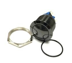 25mm Black Stainless Steel Marine Domed Push Button Momentary Power Horn Switch
