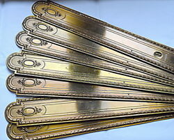 Antique French Set Of 8 Long Door Knob Backplate Finger Plate Castle Chateau