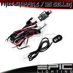 Universal Wiring Kit Fog Light Driving Lamps Wiring Harness - Fuse Switch Relay