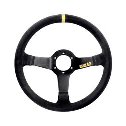 Sparco R368 Suede Steering Wheel - Size Universal