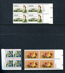 US 39 ALL DIFFERENT 20c PLATE BLOCKS MNH (SEE SCAN) (ID7178)
