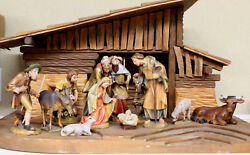 13 Hand-carved Nativity Figurines By Oswald Demetz Deur Studio Made In Italy
