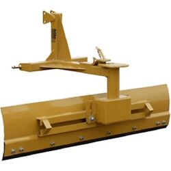 New 6and039 Heavy Duty Adjustable Grader Blade Tractor Implement Category 1