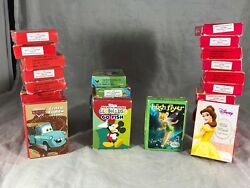 Disney Mini Card Games Lot Cars Mickey Mouse Tinkerbell Belle