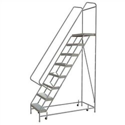 NEW! 8 Step Alum Rolling Ladder-24