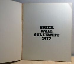 Brick Wall Sol Lewitt 1977 Signed Paperback Rare For Collection