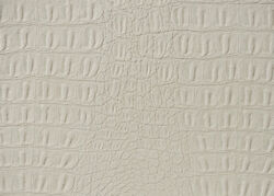 Vinyl Faux fake Leather WHITE Matte Gator Upholstery Home Fabric SHIPS ROLLED