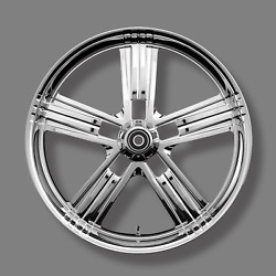 Renegade Pacific Chrome 21 Wheels Package Set Tires Harley Flh/t 09-18