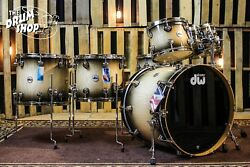 DW Collector's Maple/ Spruce Candy Black Burst Over Curly Maple With Nickel HW
