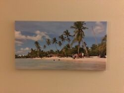 Exotic canvas beach wall art $75.00