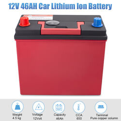 Hot 46B24R 12V 46Ah 650CCA Lithium Iron Phosphate Battery LiFePO4 for Automotive