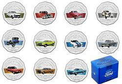 2017 Ford Australian Classic Collection Ram 50c - 11 Coins In Collector Blue Tin