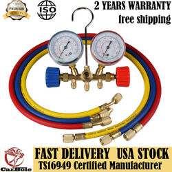 AC Refrigeration Kit AC Manifold Gauge Set Air R12 R22 R134a R404z