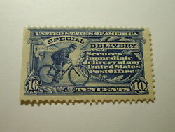 U.s. Scott E6a - 10 Cent Special Delivery Stamp 1902 /small Hing Remint Blue