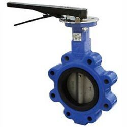 New 2-3 Lug Style Butterfly Valve W/ Viton Seals And 10 Position Handle